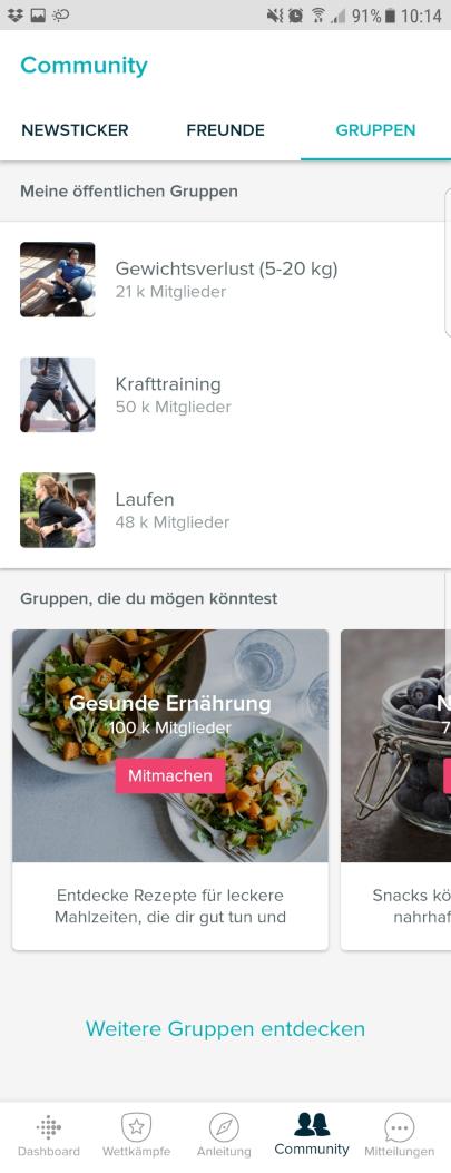Menü Anleitung - Fitbit Coach