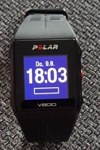 Polar V800 Hintergrundbeleuchtung