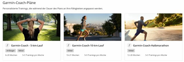 Garmin Coach Trainingsplan
